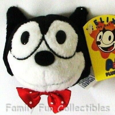 "FELIX THE CAT~1990s AA Plush~Fridge Magnet~3"" Doll Head~Cartoon Figure~NEW NOS"