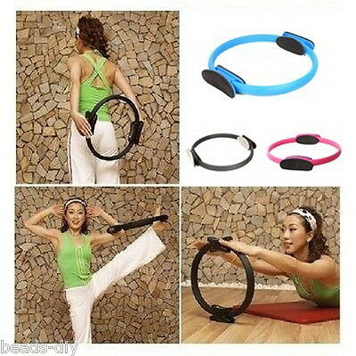 "14"" Magic Pilate Ring Circle Exercise Fitness Yoga Workout Sport Weight Loss"