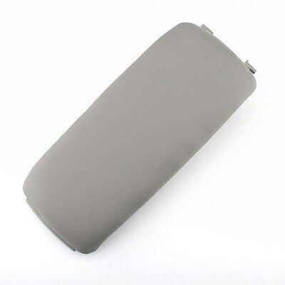 Center Console Latch Lid Grey Leather Armrest Cover for Audi A4 A6 S4 02-06
