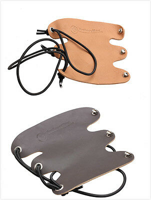 TRADITIONAL ARCHERY Black LEATHER ARM GUARD ArcheryMax HandMade