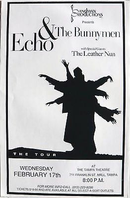 Echo & The Bunnymen 1993 Tampa Concert Tour Poster