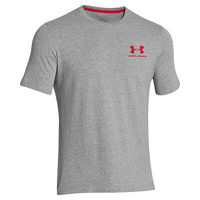 Under Armour Charged Cotton Sportstyle Left Chest Logo T-Shirt Gray 1257616-025