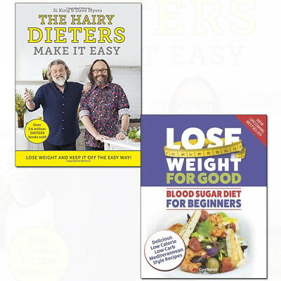 Blood Sugar Diet For Beginners and Hairy Dieters Make It Easy 2 Books Collection