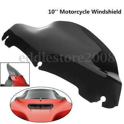 "10"" Black Windshield For Harley Electra Street Glide Touring FLHT FLHTC 2014-15"