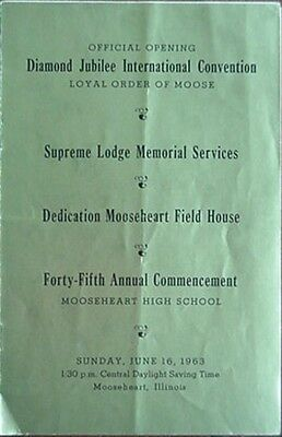 1963 Loyal Order Of Moose Diamond Jubilee (75Th Anniversary) Convention Items