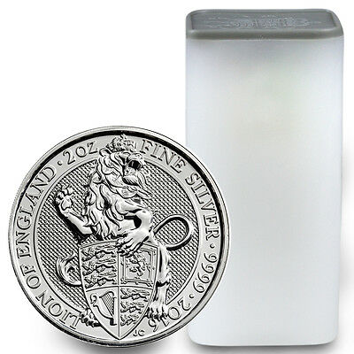 2016 Great Britain 5 Pnd 2 Oz Silver Queen's Beast Lion (Roll-10 Coins) SKU41713