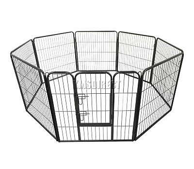FoxHunter Heavy Duty 8 sided Pet PlayPen Dog Puppy Cage Crate Training Run Metal