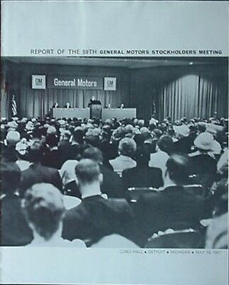 1967 General Motors Corp. Stockholders Meeting Report (57Th Annual, Detroit