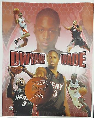 Dwyane Wade Signed 'Flash' Authentic Autographed Giclee Canvas PSA/DNA #D12521