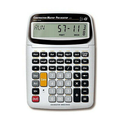 Calculated Industries Construction Master Pro Desktop Calculator 44080 w/Trig