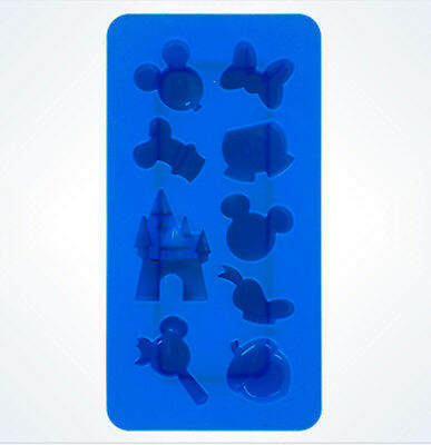 Disney Parks Mickey Mouse Character Castle  Silicone Ice Cube Tray Mold NEW