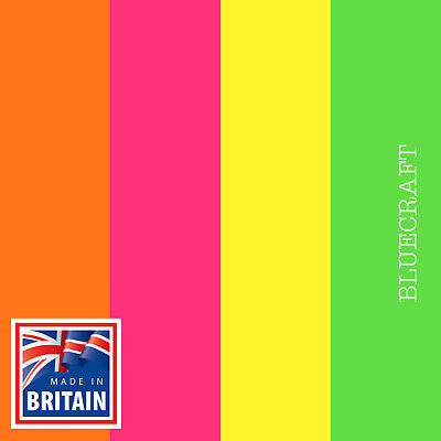 25 pack x Bright Fluorescent Blank Postcards 280gsm - Yellow Orange Green Pink
