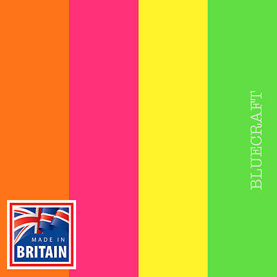 25 pack x Fluorescent Blank Postcards 260gsm - Yellow Orange Green Pink Mixed