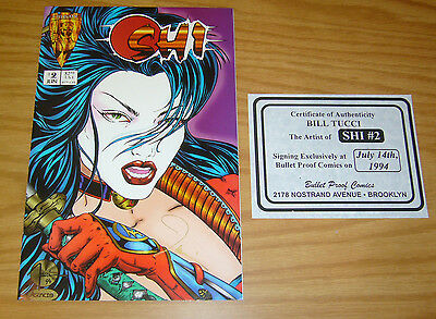 Shi: the Way of the Warrior #2 VF/NM signed by bill tucci with COA 1994 crusade