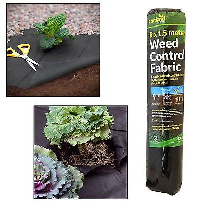 8m x 1.5m Weed Control Fabric Membrane Ground Cover Sheet Garden Landscape
