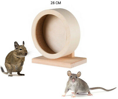 Wooden Exercise Pet Rat Degu 28 Cm Large Spinning Wheel Cage Toy 60923 New Hs