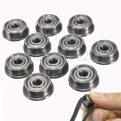 10 x F623zz Mini Metal Double Shielded Flanged Ball Bearings  For 3D printer