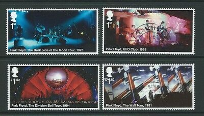 Great Britain 2016 Music Giants - Pink Floyd Set 4 Ex.  Miniature Sheet F. Used