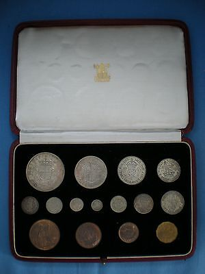 1937 Royal Mint Proof 15 Coin Set - Crown To Maundy Penny From George Vi
