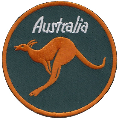 Australia Flag Round Kangaroo Embroidered Patch Badge