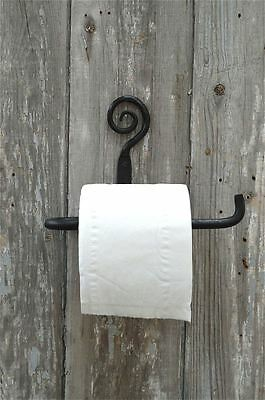 Beautiful Blacksmith Handmade Wrought Iron Spiral Toilet Roll Holder Wall Mount