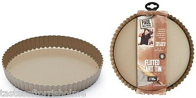 Paul Hollywood Bakeware Fluted Round Loose Bottom Non Stick Quiche Baking Tin