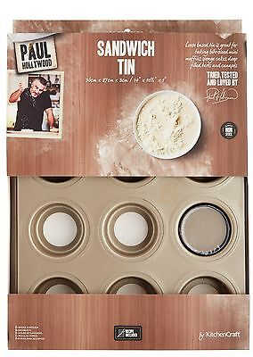 Paul Hollywood Bakeware Non Stick 12 Hole Mini Victoria Sandwich Cake Tin Sheet