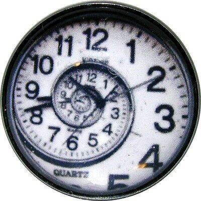 1 inch Crystal Dome Button Steampunk Spiral Clock Face 09 SP  FREE US SHIPPING
