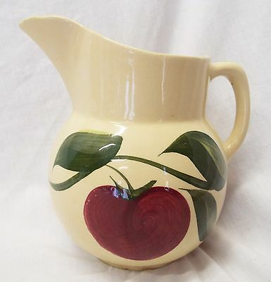 Old Vintage WATT Pottery APPLE 3 Leaf Pattern #16 Water Juice PITCHER
