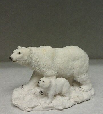 Polar Bear Baby Walking Figurine Wild Zoo Animals