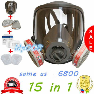 Set of Full Facepiece same as 3M 6800 Dust Gas Masks Spray Protective Cartridge