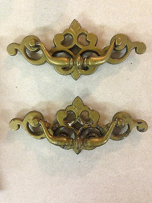 Set of 2 Brass Drawer Pulls