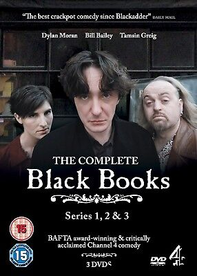 BLACK BOOKS 1-3 (200-2004): COMPLETE COMEDY TV SEASONS SERIES NEW Rg2 DVD not US