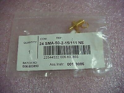 Huber Suhner 24 SMA-50-2-15/111 NE Straight bulkhead cable feed through 22544532