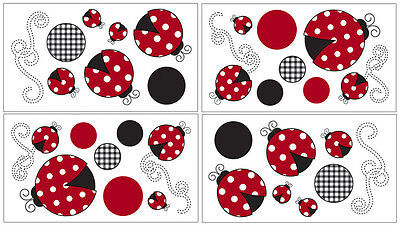 Sweet Jojo Designs Ladybug Baby Bedding Decal Stickers Kid Wall Art Room Decor