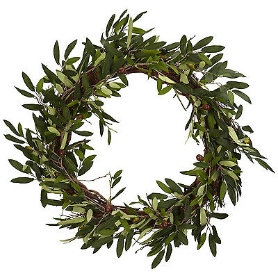 """Brand New 20"""" European Style Olive Berry Leaf Artificial Door Wreath"""