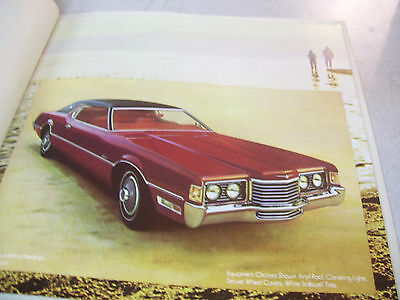 Beautiful 1972 Ford Thunderbird Brochure 8 Pages!