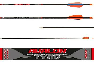 Avalon Carbon Tyro Arrows Ready Made Arrow 6 Pack Archery
