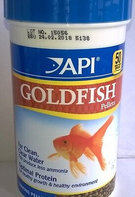 API GOLDFISH PELLET FISH FOOD 116g 0317163028339 • EUR 10,38