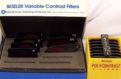 Kodak Polycontrast and Beseler Variable Contrast Filters