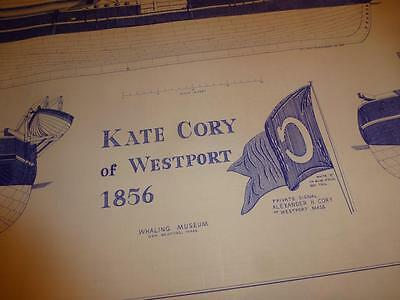 KATE CORY of WESTPORT 1856 Boat Ship BLUEPRINTS 9 Pages Old Dartmouth Historical