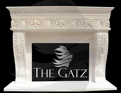 Impressive New Design Hand Carved French Limestone Fireplace Mantel