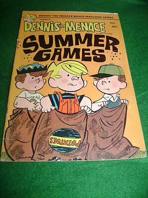 1971 Dennis The Menace #95  By Hank Ketcham Summer Games Thick Edition