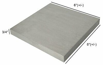 """Steel 6"""" (+/-) Square 3/4"""" Thick Bench Steel Block Hardened Metal Working Anvil"""
