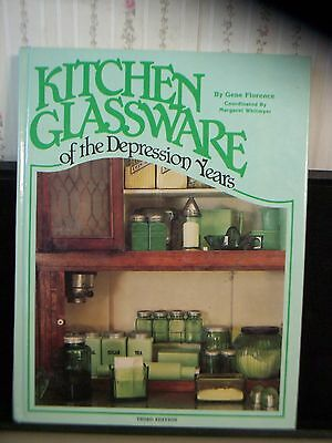 """1987 """"kitchen Glassware Of The Depression Years"""" Collectible Reference Book"""