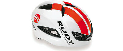 Casco Bici RUDY PROJECT BOOST 01 White/Red Fluo Shiny/HELMET RUDY PROJECT BOOST