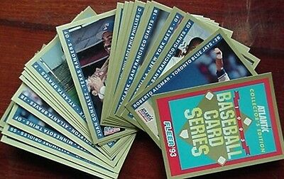 1993 Atlantic Petroleum Sponsored Baseball Card Set (Griffey, Ripken, Ryan +