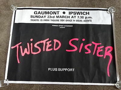 Twisted Sister 1986 Gaumont, Ipswich Concert Poster