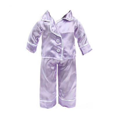 "Purple Pajamas PJS Clothes for American//Journey Girl 18"" Doll"