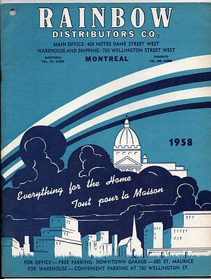 RAINBOW DISTRIBUTORS CO. MONTREAL 1958 CATALOGUE Everything for the Home